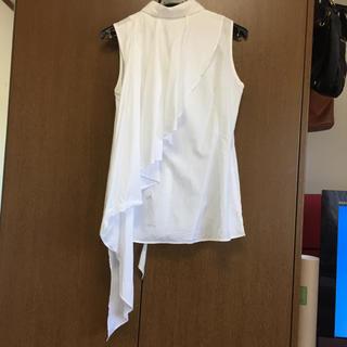 ルシェルブルー(LE CIEL BLEU)のLECIELBLUEノースリーブシャツ(シャツ/ブラウス(半袖/袖なし))