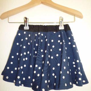 ブリーズ(BREEZE)のBREEZE 紺×白ドット スカートパンツ 90センチ 新品・未使用☆(スカート)