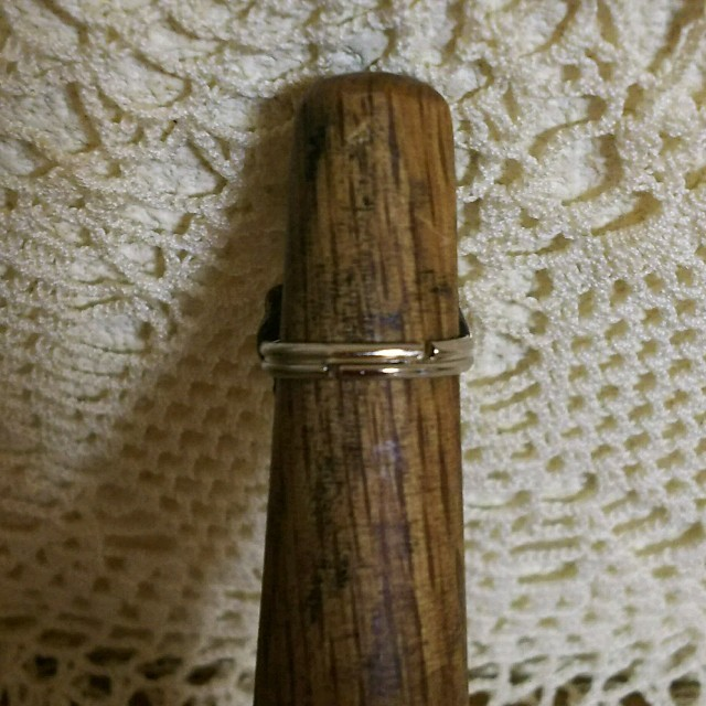 コンチョ リング シルバー フリーサイズ ハート ハンドメイド ハンドメイドのアクセサリー(リング)の商品写真
