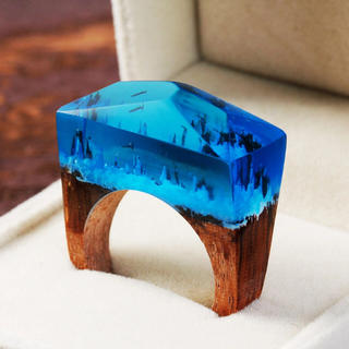 Magic Forest Wooden Deep Blue Ring(リング)