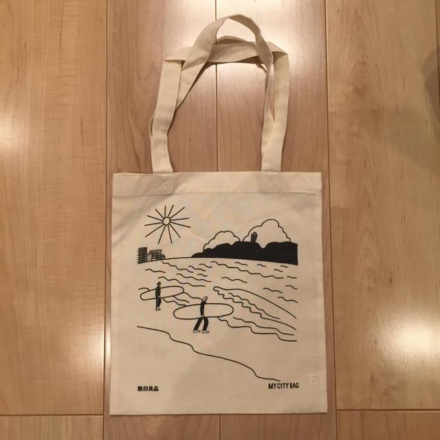 MUJI (無印良品)(ムジルシリョウヒン)の非売品 無印良品 エコバッグ 湘南限定 レディースのバッグ(エコバッグ)の商品写真