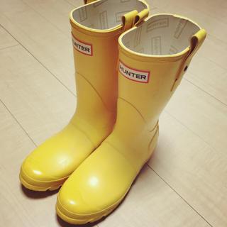 ハンター(HUNTER)のHUNTER レンイブーツ イエロー(レインブーツ/長靴)