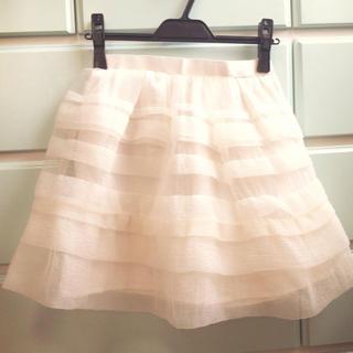マーキュリーデュオ(MERCURYDUO)のマーキュリー♡オーガンジースカート♡(ミニスカート)