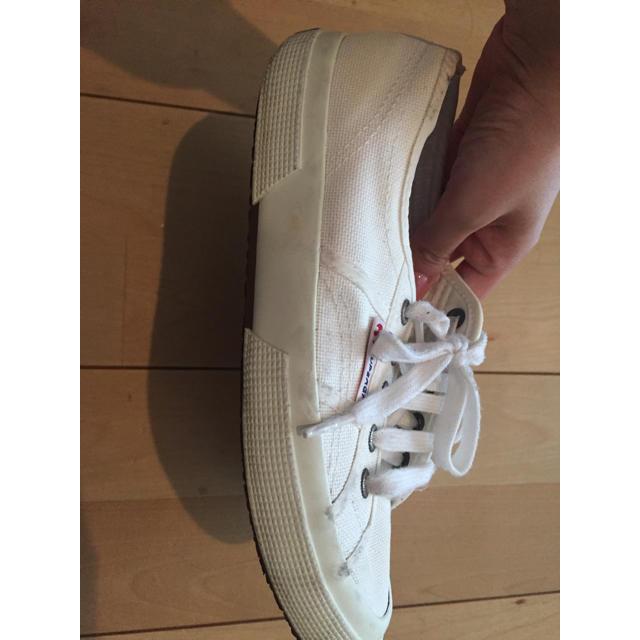UNITED ARROWS(ユナイテッドアローズ)のスペルガSUPERGA36スニーカーホワイト白NBコンバース梨花23.5 レディースの靴/シューズ(スニーカー)の商品写真