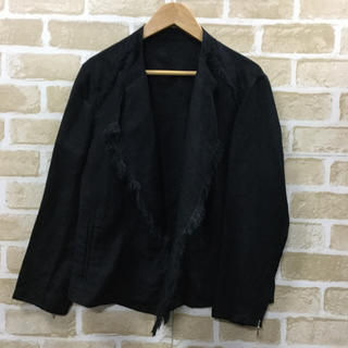 ルーニィ(LOUNIE)の新品LOUNIE リネン混ジャケット ¥22,000 サイズ38(ノーカラージャケット)