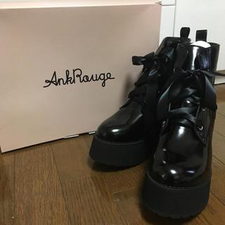 アンクルージュ(Ank Rouge)の新品 ✩ Ank Rouge ✩ サテンレースアップブーツ(ブーツ)