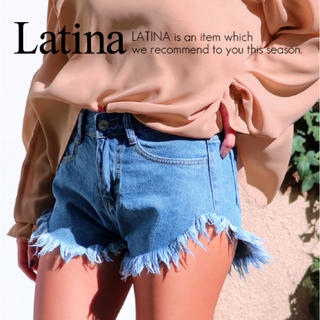 アナップラティーナ(ANAP Latina)の未使用 フリンジハイウエストデニムショートパンツ(ショートパンツ)