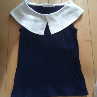 ミスティウーマン(mysty woman)の襟付きタンクトップ 送料込み(Tシャツ(半袖/袖なし))