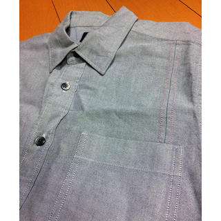 ギャップ(GAP)のGAPグレーコットンデザインシャツ(シャツ)