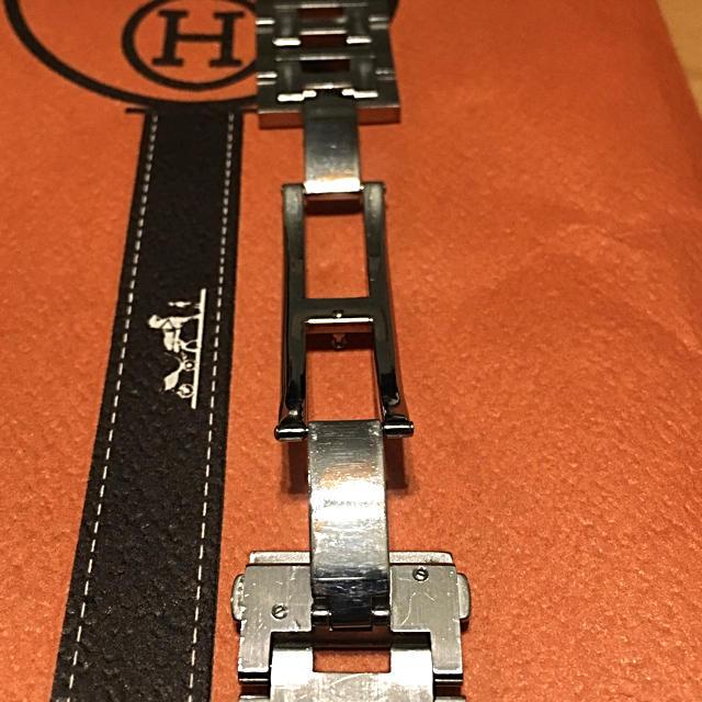 new arrival 18903 1e398 【正規保証】エルメス時計SSブレスレット 無垢フラットフィッシュ付 ロレックスも