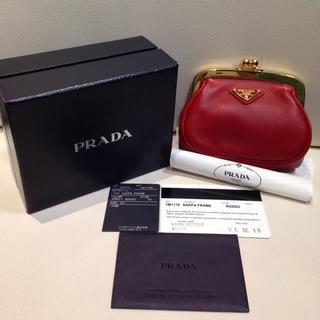プラダ(PRADA)のプラダ 財布 小銭入れ がま口 正規品 新品同等(財布)