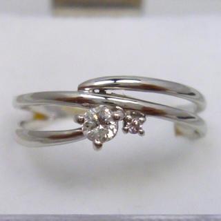 Pt900 合計 0.11ct ピンクダイヤモンド入り リング 13号 指輪(リング(指輪))