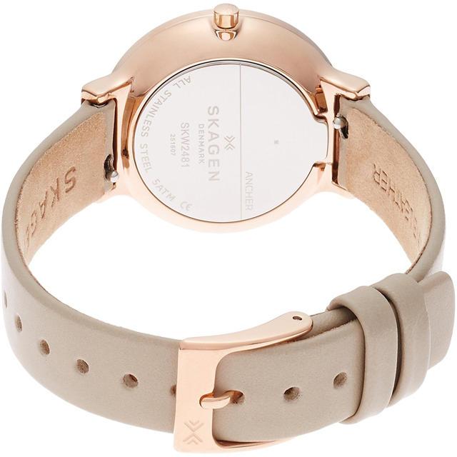 SKAGEN(スカーゲン)の新作 SKAGEN 腕時計 レディース SKW2481 ベージュ レディースのファッション小物(腕時計)の商品写真