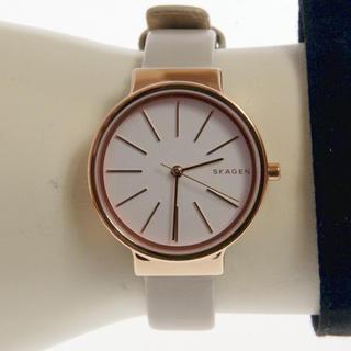 スカーゲン(SKAGEN)の新作 SKAGEN 腕時計 レディース SKW2481 ベージュ(腕時計)