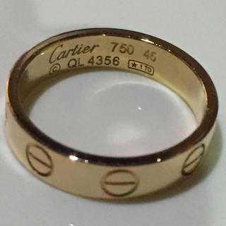 カルティエ(Cartier)の1日9時迄お取置き【Cartier】 カルティエミニラブリング ピンクゴールド(リング(指輪))