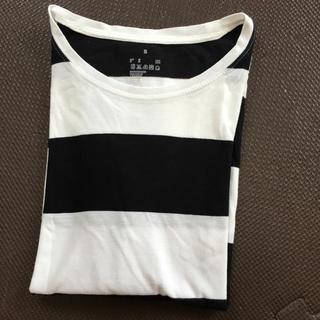 ムジルシリョウヒン(MUJI (無印良品))の太ボーダー Tシャツ(Tシャツ(半袖/袖なし))