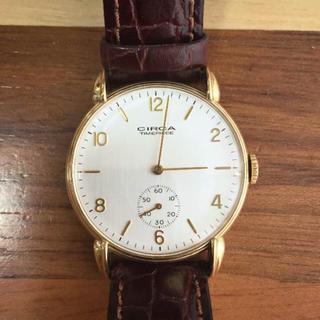 サーカ(CIRCA)のCIRCA サーカ ゴールド ブラウン 革ベルト アナログ 金 腕時計(腕時計)