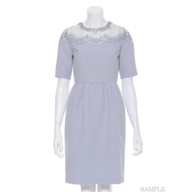 Lilybrown♡オーガンジー刺繍ドレス