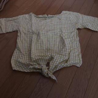 ジーユー(GU)のジーユー ギンガムチェックブラウス(シャツ/ブラウス(半袖/袖なし))