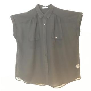 ジーユー(GU)のシースルーブラウス(シャツ/ブラウス(半袖/袖なし))