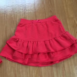 ジーユー(GU)の150センチ 赤色 スカート(スカート)