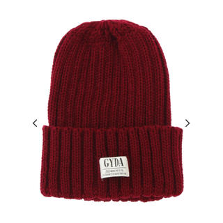 ジェイダ(GYDA)のGYDA ニット帽 レッド(ニット帽/ビーニー)
