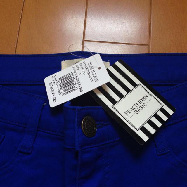 PEACH JOHN(ピーチジョン)のピーチジョン スキニーパンツ ブルー 新品 レディースのパンツ(スキニーパンツ)の商品写真