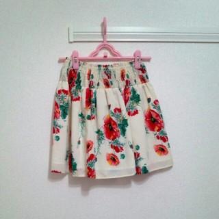 ニーナミュウ(Nina mew)のガーベラプリントスカート(ミニスカート)