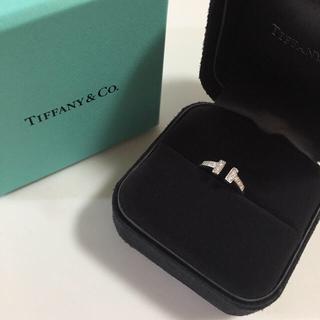 ティファニー(Tiffany & Co.)のティファニー Tiffany 指輪 リング Tリング  ホワイトゴールド 8号(リング(指輪))
