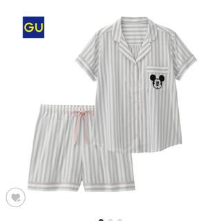 ジーユー(GU)のL♡ミッキー♡ルームウェア パジャマ GU ストライプ(パジャマ)