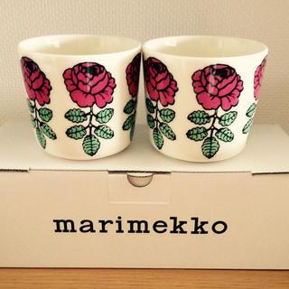 マリメッコ(marimekko)のmarimekko 新作 ラテマグ VIHKIRUUSU ヴィヒキルース(グラス/カップ)