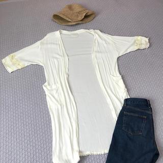 ディスコート(Discoat)の新品未使用 ガウン 刺繍 フリンジ ビーチ ロング カーディガン(カーディガン)