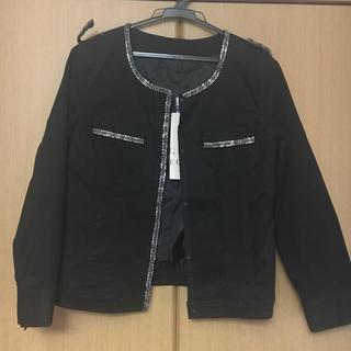 イェッカヴェッカ(YECCA VECCA)のYECCA VECCA 黒ジャケット(ノーカラージャケット)