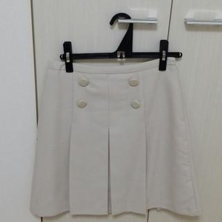 プーラフリーム(pour la frime)のpour la frime 白スカート(ひざ丈スカート)