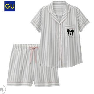 ジーユー(GU)のGU♡ミッキー♡ルームウェア パジャマ ストライプ(パジャマ)