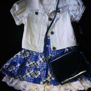 チェック&レース☆ミニスカート(ミニスカート)