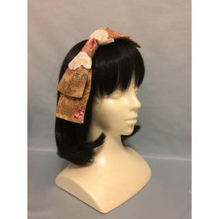 【新品、日本製】 コーム付きリボンボンネ♡クラシックで上品なヘッドドレス(髪飾)(その他)