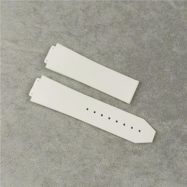 H04 白 ストライプ ウブロ時計ビッグバン用 ラバーベルト メンズの時計(ラバーベルト)の商品写真