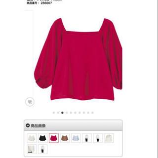 ジーユー(GU)のほぼ未使用 GU 新作 ピンク オフショル(シャツ/ブラウス(半袖/袖なし))