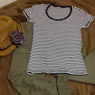 ジーユー(GU)のGU ボーダー T(Tシャツ(半袖/袖なし))