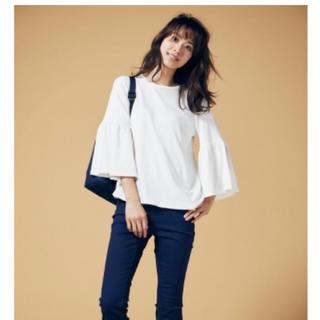 ジーユー(GU)のGU 盛り袖T 7分袖(Tシャツ(長袖/七分))