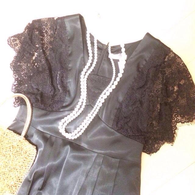 aquagirl(アクアガール)のアクアガール♡ブラックドレス♡結婚式に レディースのワンピース(ひざ丈ワンピース)の商品写真