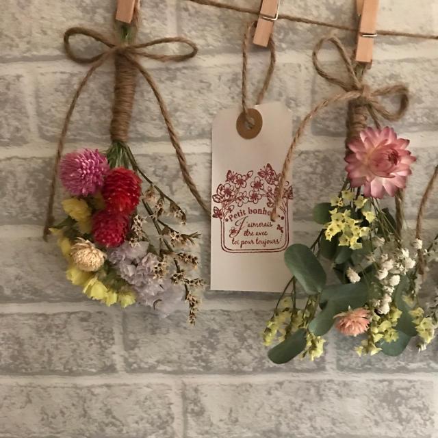 ミニスワッグ5点セット☆ミニミニ付き☆ ハンドメイドのフラワー/ガーデン(ドライフラワー)の商品写真