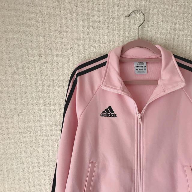 adidas(アディダス)の【値下げ再出品】adidas ピンク×ブラック ジャージ メンズのトップス(ジャージ)の商品写真