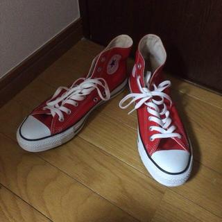 コンバース(CONVERSE)のコンバース 赤 26.5cm(スニーカー)