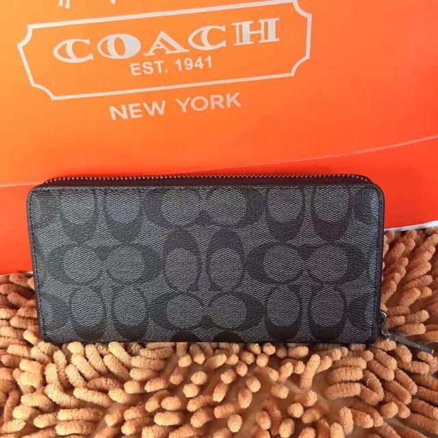 9887371317d6 COACH(コーチ)のコーチ COACH 財布 シグネチャー メンズ 長財布 F75000 メンズのファッション