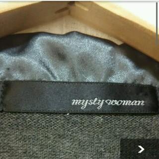 ミスティウーマン(mysty woman)の最終価格☆mystywoman グレーカーディガン☆(カーディガン)