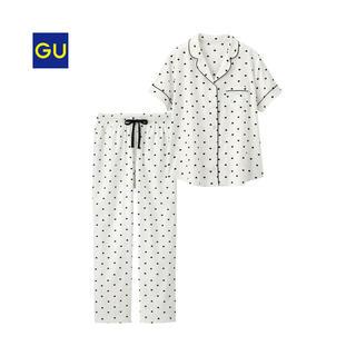 ジーユー(GU)のジーユーハートパジャマ♡ホワイトM(パジャマ)