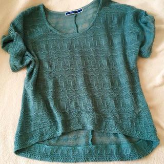 ジエンポリアム(THE EMPORIUM)のゆる編み袖ロールアップ サマーニット(カットソー(半袖/袖なし))