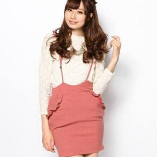 リリーブラウン(Lily Brown)のリボンサスペンダースカート♡(サスペンダー)